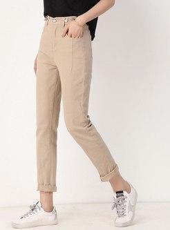 Brief Elastic High Waisted Slim Pencil Pants