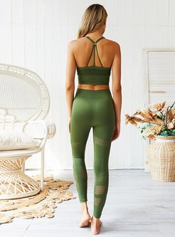 Scoop Tight High Waisted Sports Yoga Tracksuit