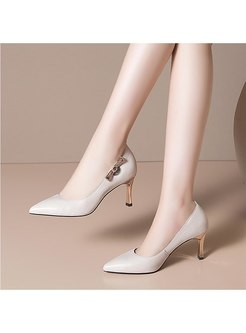 Pointed Toe Slow-cut High Heel Shoes