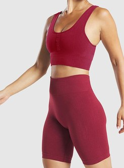 Pure Color Tight Fitness Yoga Pants