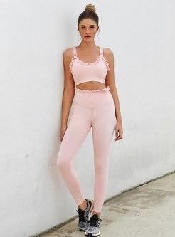 Scoop Neck Sports Bra & Tight Yoga Pants