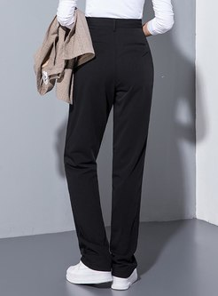 High Waisted Straight Long Pants
