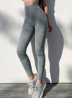 High Waisted Print Tight Yoga Pants