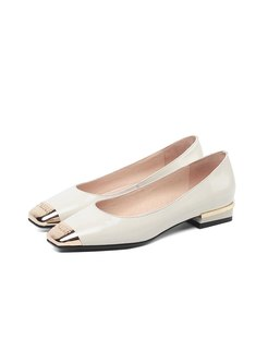 Square Toe Low-fronted Spring/Fall Shoes