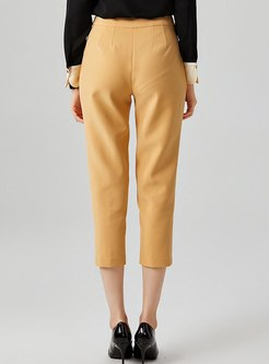 High Waisted Slim Pencil Capri Pants