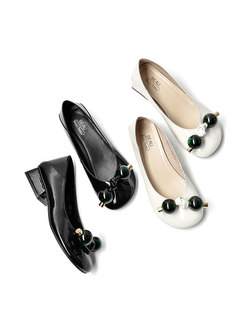 Patent Leather Low-fronted Shoes