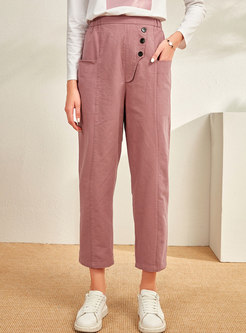 High Waisted Loose Casual Tapered Pants