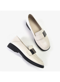 Rounded Toe All-matched Brief Loafers