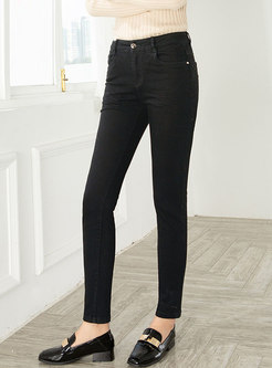Casual All-matched Slim Pencil Jeans