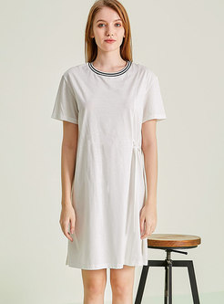 Solid Color Split Nightgowns