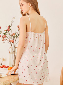 Spaghetti Strap V-neck Nightgowns