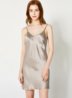 Sexy Spaghetti Strap Cut Out Tie Back Nightgowns