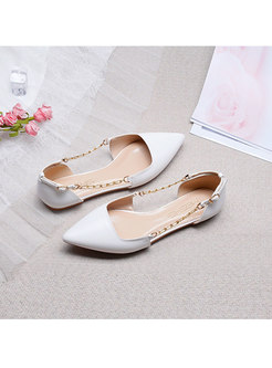 Pointed Toe Buckle Low-fronted Flat