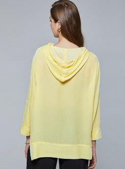 Long Sleeve Drawstring Pullover Hoodie
