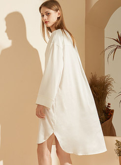 Lace Patchwork V-neck Long Sleeve Nightdress