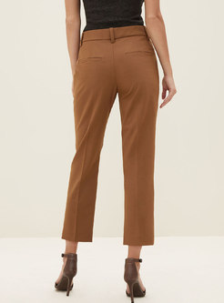High Waisted Straight Dress Pants