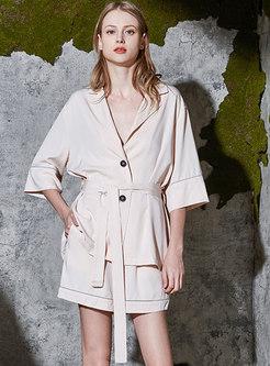 3/4 Sleeve High Waisted Short Pajama Set