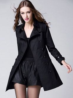 Double-breasted Slim Belted Trench Coat