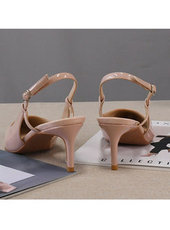 Patent Leather Pointed Toe Sandals