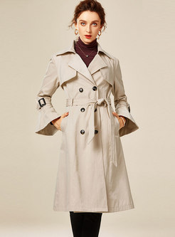 Flare Sleeve Double-breasted Trench Coat