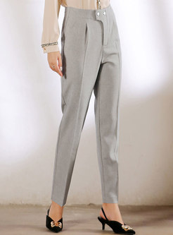 High Waisted Plaid Straight Pants