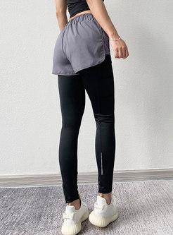 Elastic Waist Drawstring Yoga Sports Pants