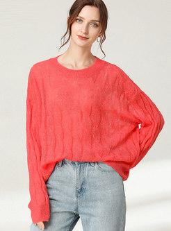 Plus Size Crew Neck Pullover Sweater