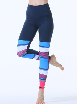Color Block High Waisted Quick-drying Yoga Pants