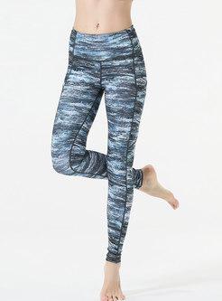 Print High Waisted Tight Yoga Pants