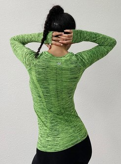 Crew Neck Pullover Quick-drying Sport T-shirt