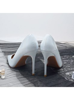 Pointed Toe Low-fronted Plush Pumps