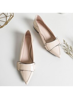 Pointed Toe Low-fronted Spring/Fall Shoes
