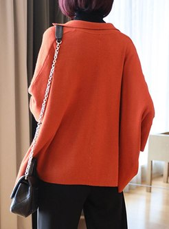 Long Sleeve Solid Color Loose Cardigan