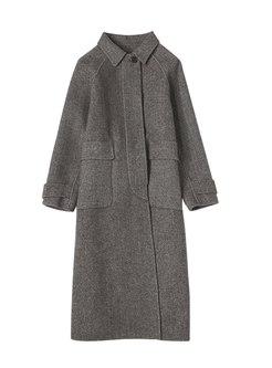 Turn Down Collar Cashmere Cape Overcoat