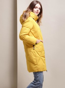 Hooded Straight Duck Down Puffer Coat
