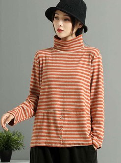 Striped Pullover Plus Size T-shirt