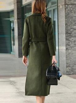Double-cashmere Long Split Straight Overcoat