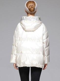 Hooded High Shine Duck Down Coat