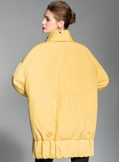 Scarf Collar Plus Size Duck Down Coat