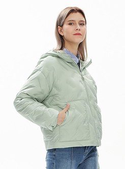 Hooded Short Lightweight Down Coat