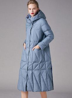 Solid Color Long Split Down Coat