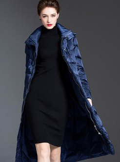 Removable Hooded Long Straight Down Coat