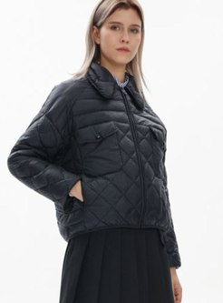 Turn Down Collar Short Slim Down Jacket