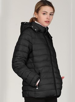 Hooded Short Slim Puffer Jacket