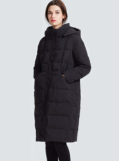 Removable Hooded Straight Puffer Coat