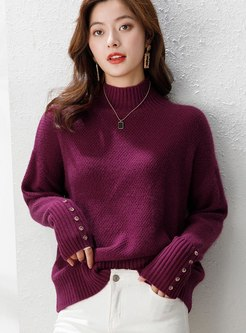 Long Sleeve Pullover Ribbed Sweater