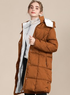 Removable Hooded Color-blocked Coat