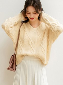Long Sleeve Ribbed Loose Sweater