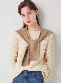 Color-blocked Patchwork Loose Sweater