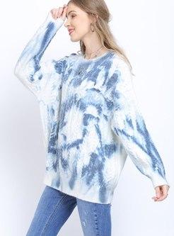 Plus Size Pullover Color-blocked Sweater